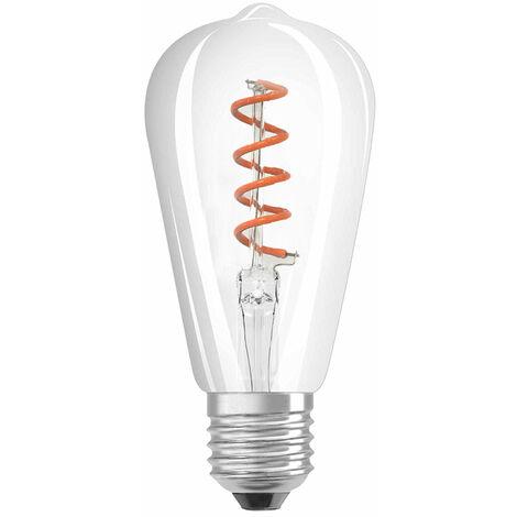 Bombilla LED E27 filamento rizado (4W)