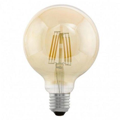 Bombilla LED E27 filamentos G95 luz calida 6W