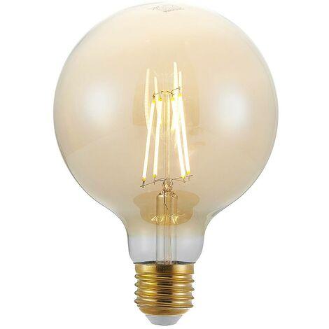 Bombilla LED E27 G125 6,5W 2.500K ámbar atenuador