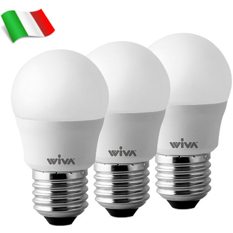 Bombilla LED E27 G45 7W 4000K° Wiva - Paquete 3 Bombillas