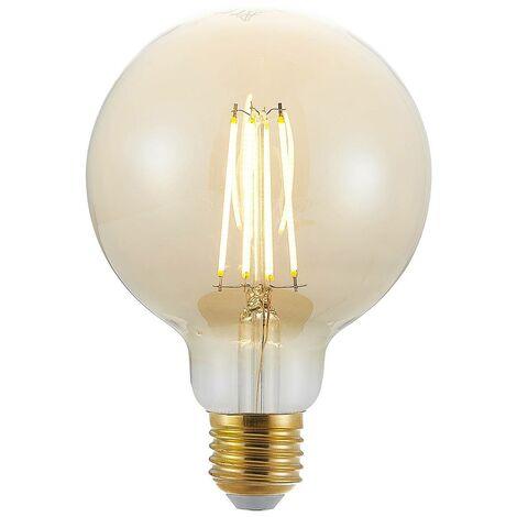 Bombilla LED E27 G95 6.5W 2.500K ámbar atenuador