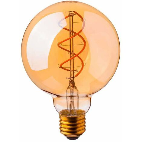 Bombilla LED E27 globo spiral filament Gold Cover G125 2200K 6W