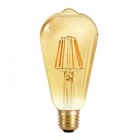 Bombilla LED E27 pebetera 6W (luz cálida)
