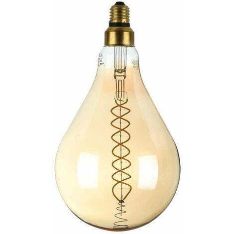 Bombilla LED E27 regulable de filamento en espiral A65 2000K 8W