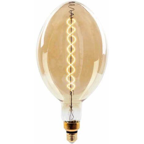 Bombilla LED E27 regulable de filamento en espiral BF180 2000K 8W