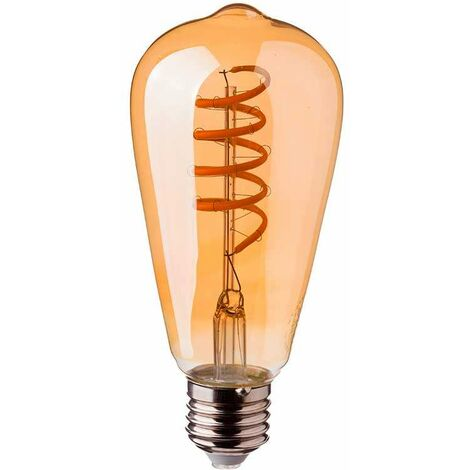 Bombilla Led E27 Regulable Espiral Filament ST64 2200K 4W