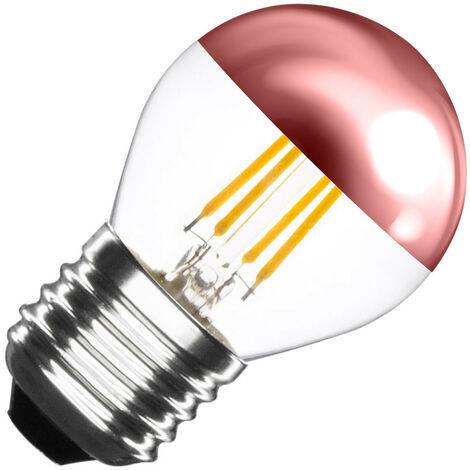Bombilla LED E27 Regulable Filamento Copper Reflect Small Classic G45 4W Blanco Cálido 2000K-2500K