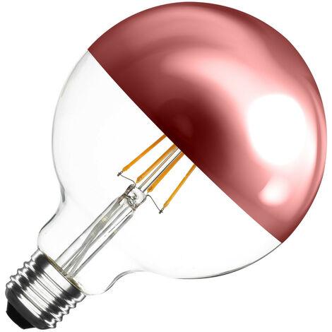 Bombilla LED E27 Casquillo Gordo Regulable Filamento Copper Reflect Supreme G125 6W Blanco Cálido 2000K - 2500K