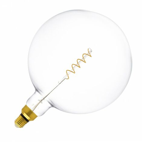 Bombilla LED E27 Regulable Filamento Espiral Big Supreme G250 4W Blanco Cálido 2000K-2500K