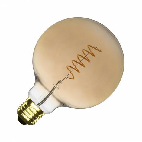 Bombilla LED E27 Regulable Filamento Espiral Gold Supreme G125 4W Blanco Cálido 2000K-2500K