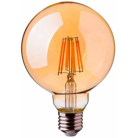 Bombilla LED E27 regulable filamento globo G125 2200K 8W
