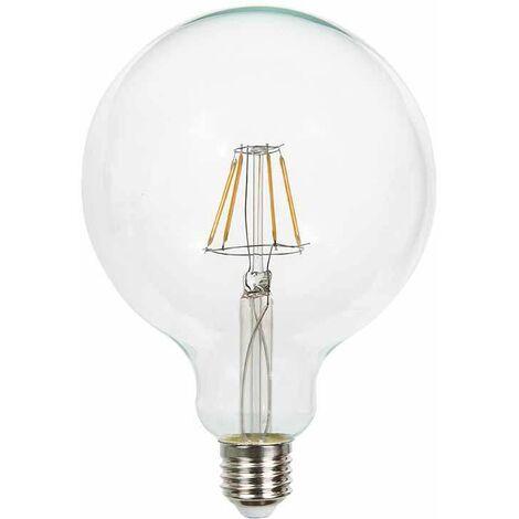 Bombilla LED E27 regulable filamento globo G125 2700K 4W
