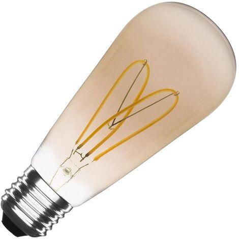 Bombilla LED E27 Regulable Filamento Gold Big Lemon ST64 4W Blanco Cálido 2000K-2500K