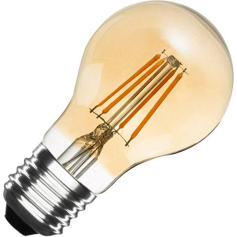 Bombilla LED E27 Casquillo Gordo Regulable Filamento Gold Classic A60 6W Blanco Neutro 4000K - 4500K