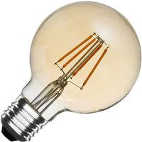 Bombilla LED E27 Regulable Filamento Gold Globo G80 6W