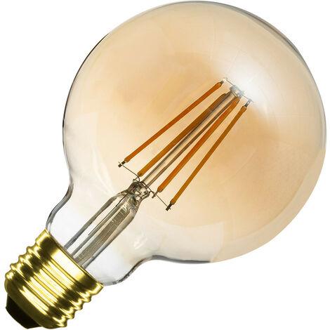Bombilla LED E27 Casquillo Gordo Regulable Filamento Gold Planet G95 6W