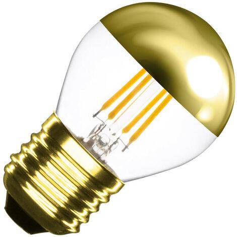 Bombilla LED E27 Regulable Filamento Gold Reflect Small Classic G45 4W Blanco Cálido 2000K-2500K
