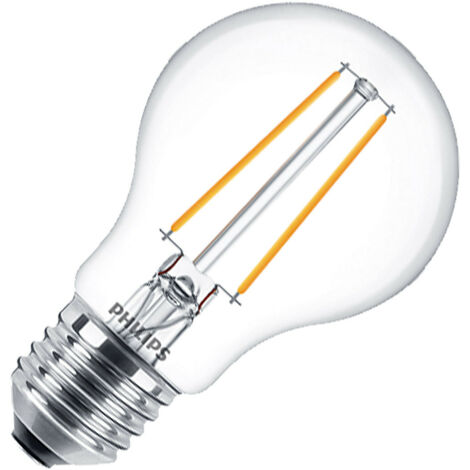 Bombilla LED E27 Regulable Filamento Philips CLA Classic A60 5.5W Blanco Cálido 2700K
