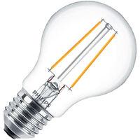 Bombilla LED E27 Regulable Filamento Philips CLA Classic A60 5.5W Blanco Cálido 2700K