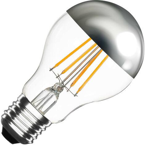 Bombilla LED E27 Casquillo Gordo Regulable Filamento Chrome Reflect Classic A60 6W