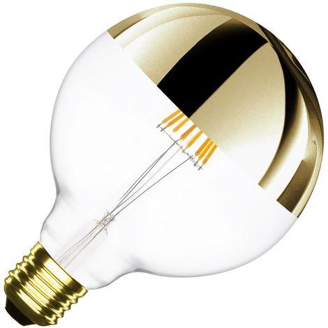 Bombilla LED E27 Regulable Filamento Smoke Gold Reflect Supreme G125 6W