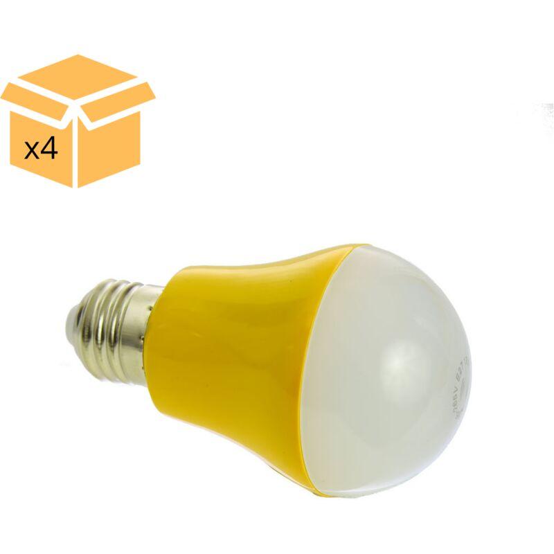 jandei x4 Bombilla con sensor 5W E27 luz blanca 4200ºK