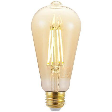 Bombilla LED E27 ST64 6.5W 2.500K ámbar atenuador