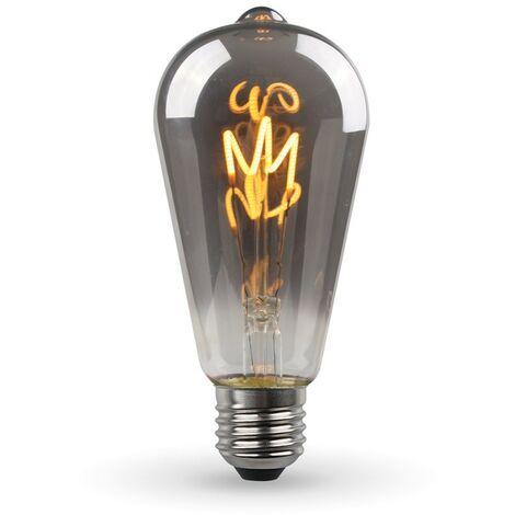 Bombilla LED E27 ST64 Smoky Vintage Deco filamento