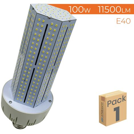 Bombilla LED E40 100W 11500LM Cono Rosca A++ | Pack 2 Uds. - Blanco Frío 6500K