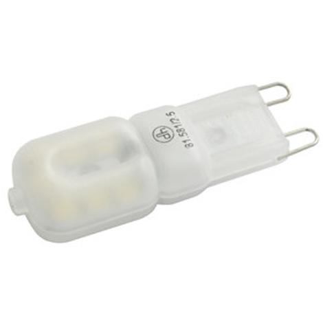 Bombilla LED Electro DH, base G9, color blanco cálido, 3200 K, 200 lumens, 2,5 W de potencia, 81.581/2.5/CAL