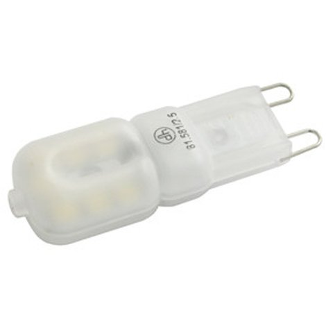 Bombilla LED Electro DH de 2,5 W, matizada, base G9, color blanco día, 6500 K, 220 lumens, clase A+, 81.581/2.5/DIA