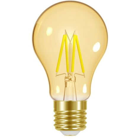 Bombilla LED ES Energizer 4.2W E27 GLS Ahorra Energía Estilo Retro Dorado