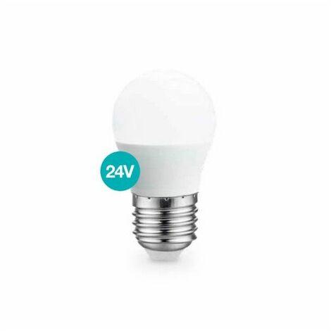Bombilla LED esférica 5W E27 3000K 24V