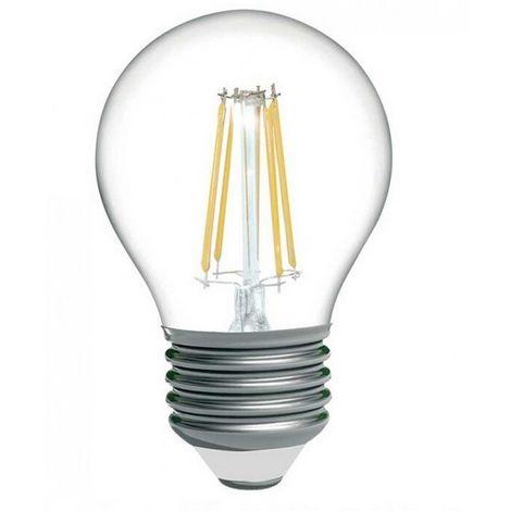 Bombilla LED esférica de filamento E27 4W G45 350lm 3000K | Blanco Cálido