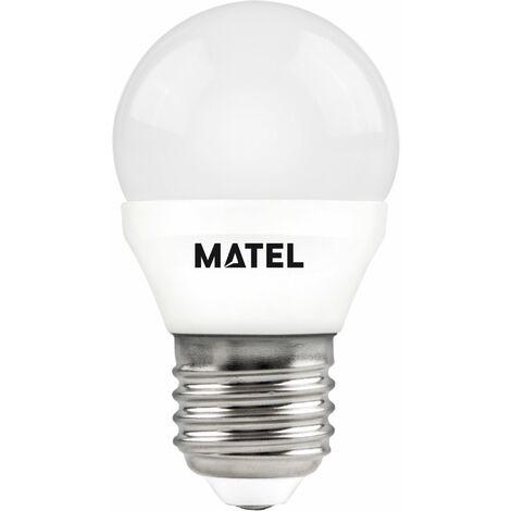 Bombilla LED esférica E27 8w cálida 750lm