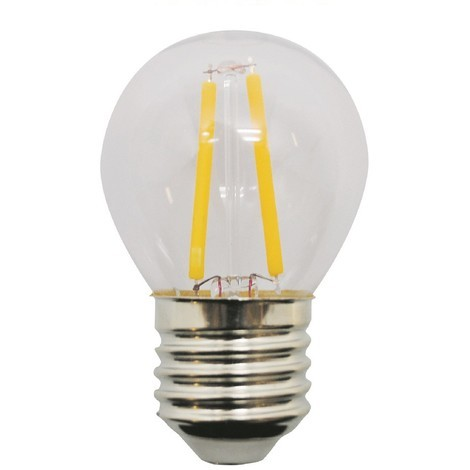 Bombilla LED Esférica E27 Luz fría (2W)
