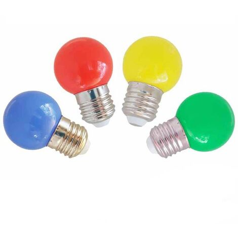 Bombilla led esferica mate 1.5W E27 Colores -Disponible en varias versiones