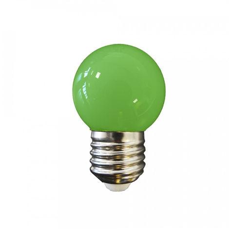 Bombilla led esferica mate 1.5W E27 Colores -Disponible en varias versiones