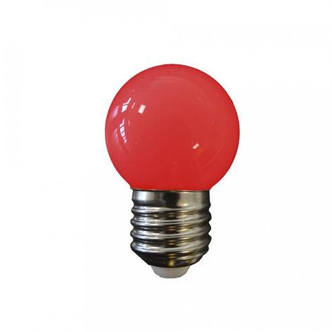 Bombilla Led Esferica Mate E27 1.5W 200 Lumens Roja - NEOFERR