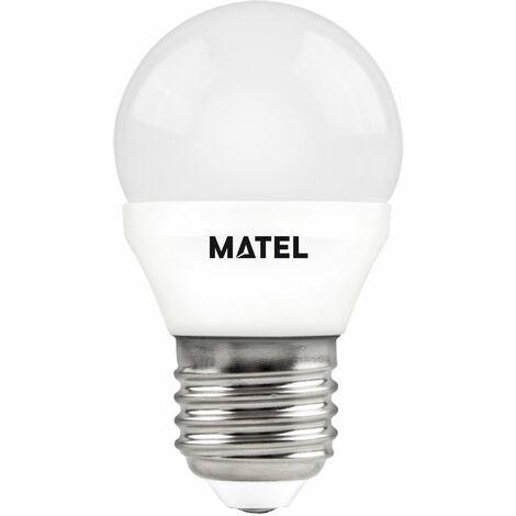 Bombilla LED esférica regulable E27 7w cálida 650lm