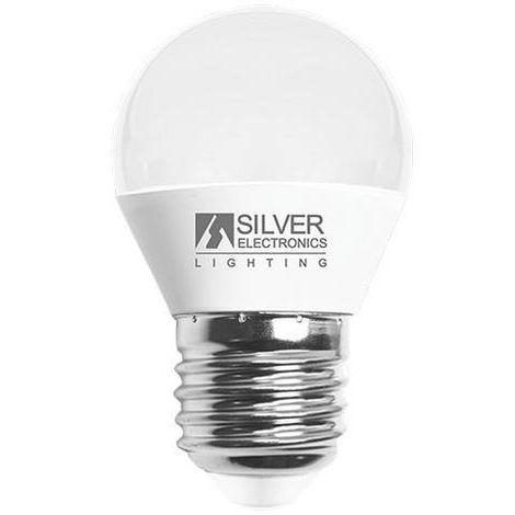 Bombilla LED Esférica Silver Electronics 960727 E27 7W Luz cálida