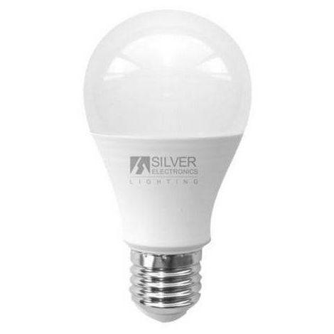 Bombilla LED Esférica Silver Electronics ECO E27 15W Luz cálida