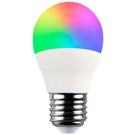 Bombilla LED Esférica Smart WiFi E27 5W Equi.35W 470lm RGBWW Regulable vía Smartphone/APP 25000H 7hSevenOn Home