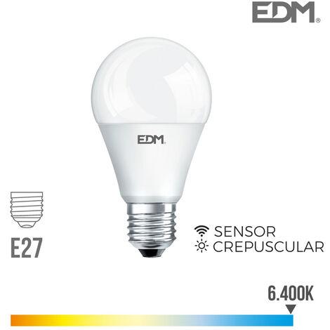 Bombilla led estándar 10W E27 con sensor crepuscular EDM -Disponible en varias versiones