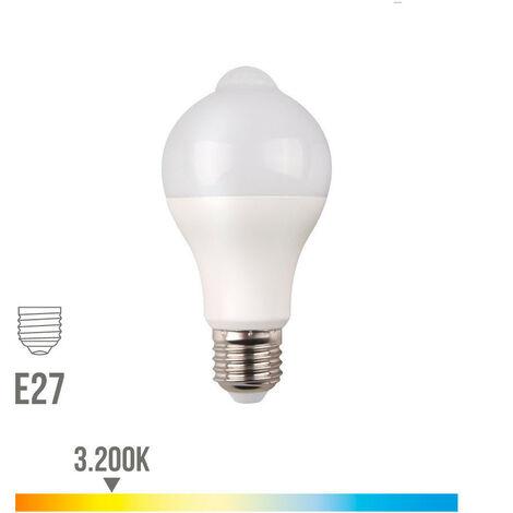 Bombilla LED estándar 12W E27 sensor movimiento y crepuscular EDM -Disponible en varias versiones