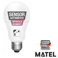 Bombilla Led Estandar Sensor Crepuscular/Movimiento 10W E27 1000Lm Matel