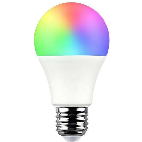 Bombilla LED Estándar Smart WiFi E27 9W Equi.60W 806lm RGBWW Regulable vía Smartphone/APP 25000H 7hSevenOn Home