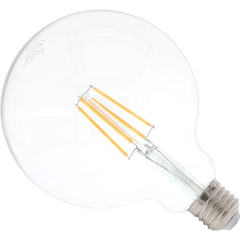 Bombilla LED filamento 6W Globo E27 G125 chip SAMSUNG