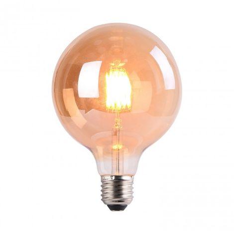 Bombilla LED Filamento 7W G125 2700K ámbar