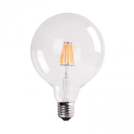 Bombilla LED filamento 7W G125 transparente 2700k